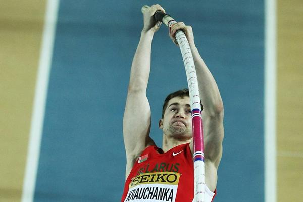 Andrei Krauchanka at the 2012 World Indoor Championships (Getty Images)