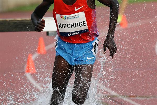 Jairus Kipchoge in the steeplechase in Sydney (Getty Images)