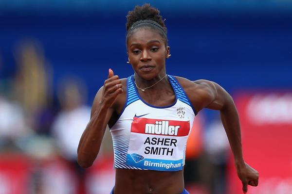 Dina Asher-Smith in action at the IAAF Diamond League meeting in Birmingham (Getty Images)