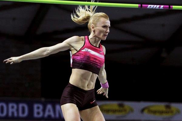Anna Rogowska at the 2014 Flanders Indoor meeting in Gent (Jean-Pierre Durand)