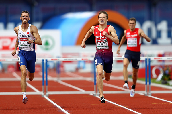 Karsten Warholm in the 400m hurdles at the European Championships (Getty Images)