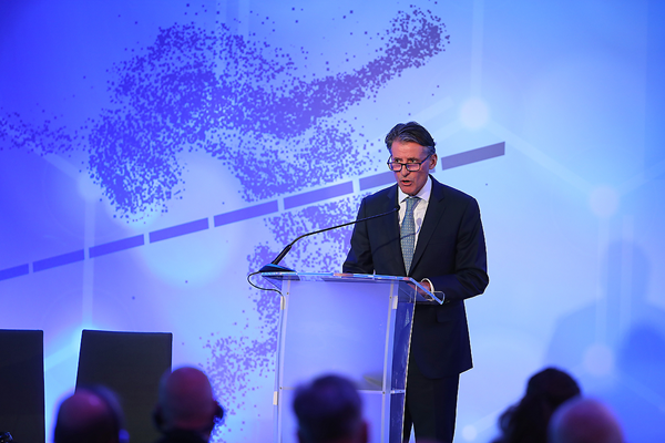 IAAF President Sebastian Coe speaking at the IAAF Special Congress in Monaco (Giancarlo Colombo / IAAF)