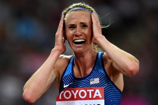 Courtney Frerichs after the steeplechase final at the IAAF World Championships London 2017 (Getty Images)