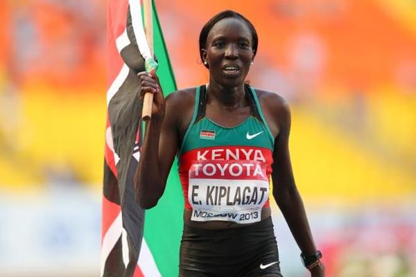 Edna Kiplagat in the women's Marathon at the IAAF World Championships Moscow 2013 (Getty Images)