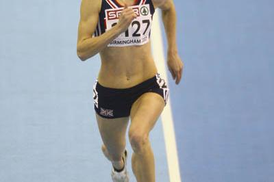 Nicola Sanders en route to her comfortable 400m victory in the semis in Birmingham (Getty Images)