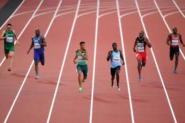 Wayde van Niekerk in the 400m at the IAAF World Championships London 2017 (Getty Images)