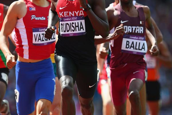 David Lekuta Rudisha of Kenya competes in the Men's 800m heat on Day 10 of the London 2012 Olympic Games at the Olympic Stadium on August 6, 2012 (Getty Images)