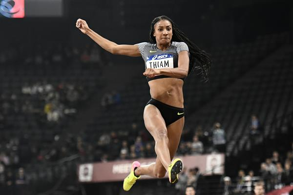 Nafissatou Thiam in action in the long jump (AFP / Getty Images)