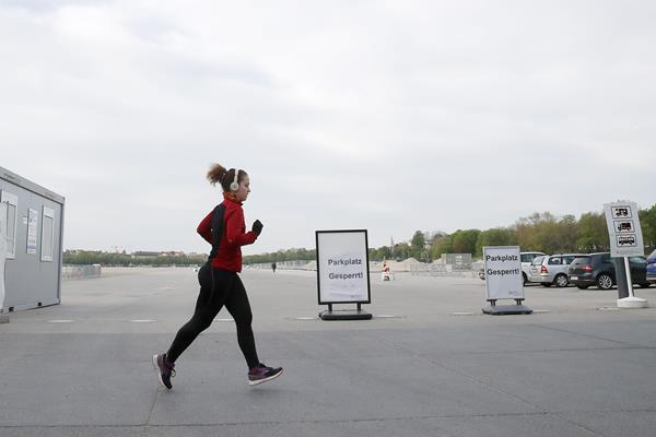 A jogger on a solo run (Getty Images)