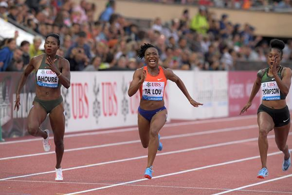 Marie Josee Ta Lo takes another 100m showdown, this time in Lausanne (Gladys Chai von der Laage)