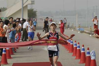 Elizabeth Hawker wins IAU 100km World Cup (Sean Wallace-Jones)