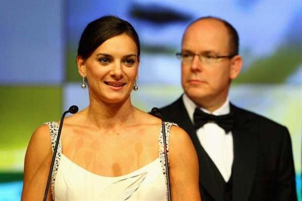Yelena Isinbayeva - 2008 World Athlete of the Year - and HSH Prince Albert II of Monaco (Getty Images)