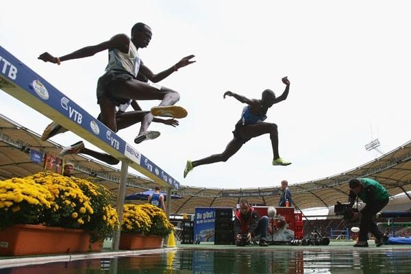 Paul Kipsiele Koech front-runs his way to a win in the 3000m steeplechase (Getty Images)