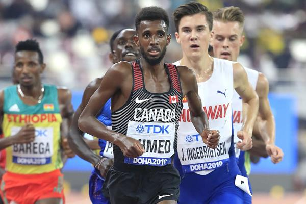 Mo Ahmed in the 10,000m at the IAAF World Athletics Championships Doha 2019 (Getty Images)