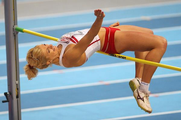 Poland's Karolina Tyminska in action in the pentathlon high jump (Getty Images)