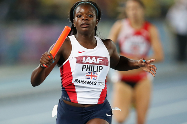 Britain's Asha Philip in action at the IAAF World Relays, Bahamas 2014 (Getty Images)