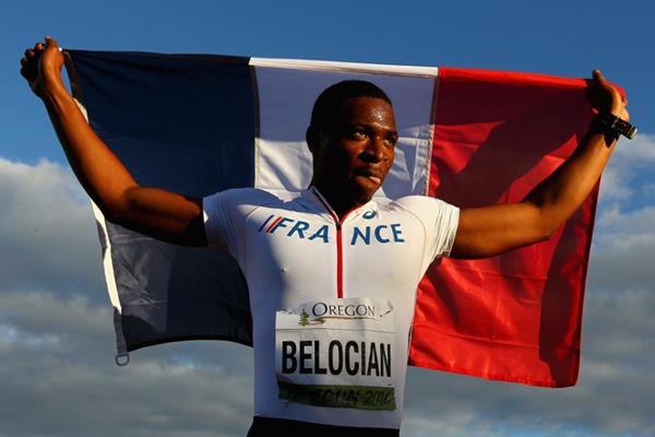 Wilhem Belocian, 110m hurdles winner at the IAAF World Junior Championships, Oregon 2014 (Getty Images)