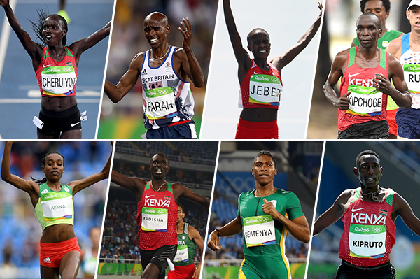 2016 World Athlete of the Year longlist nominees - middle and long distances (Getty Images)