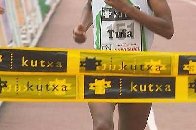 Ethiopian Mestewat Tufa wins XC in Elgoibar (Arkaitz Ortega)