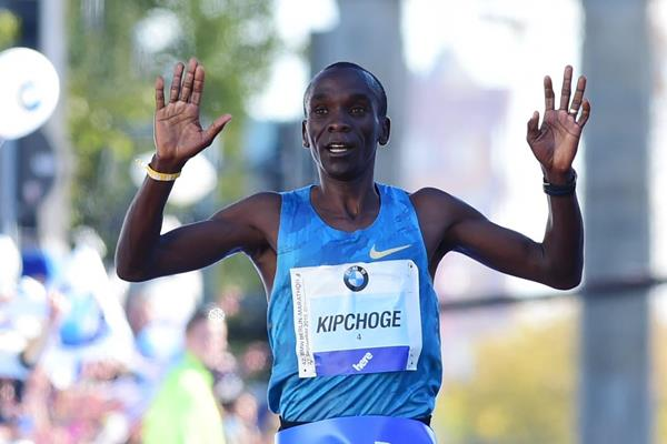 Eliud Kipchoge winning the 2015 Berlin Marathon (Getty Images / AFP)