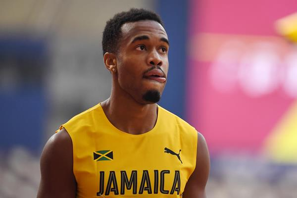 Akeem Bloomfield at the IAAF World Athletics Championships Doha 2019 (AFP / Getty Images)