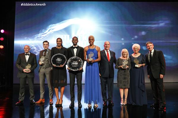 All the winners from the IAAF Athletics Awards 2017 (Philippe Fitte)