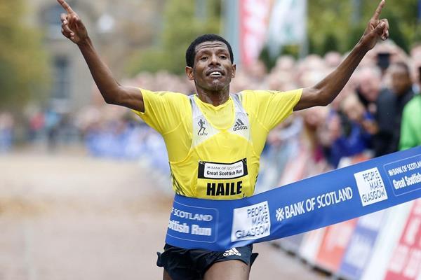 Haile Gebrselassie wins the 2013 Great Scottish Run Half Marathon in Glasgow (organisers)