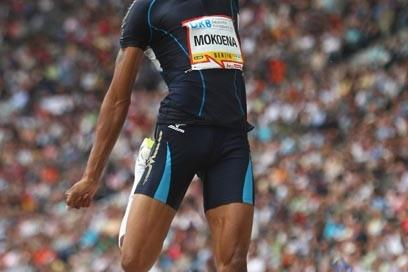 Godfrey Khotso Mokoena wins the mens long jump in a seasons best during the Berlin Golden League meet (Getty Images)