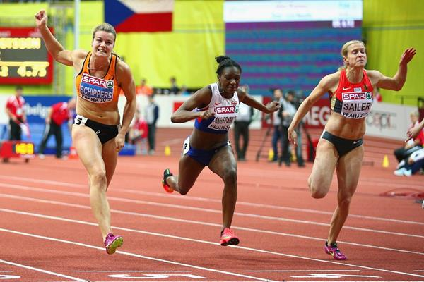 Dafne Schippers wins the 60m at the European Indoor Championships (Getty Images)