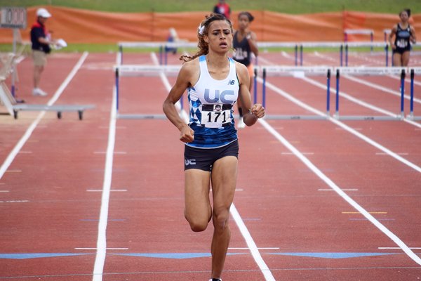 Sydney McLaughlin wins the 400m hurdles (Travis Miller)