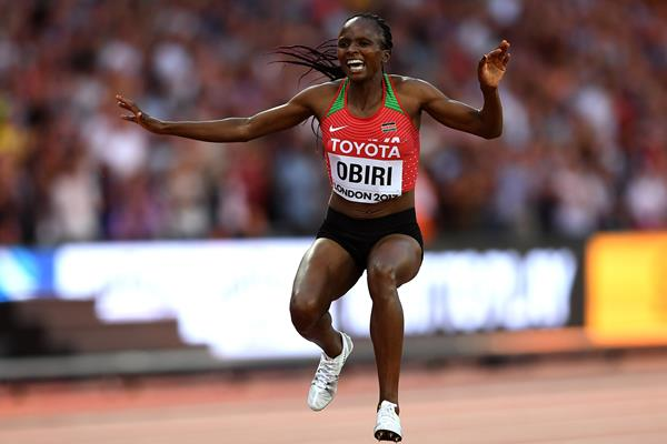 Hellen Obiri wins the 5000m at the IAAF World Championships London 2017 (Getty Images)
