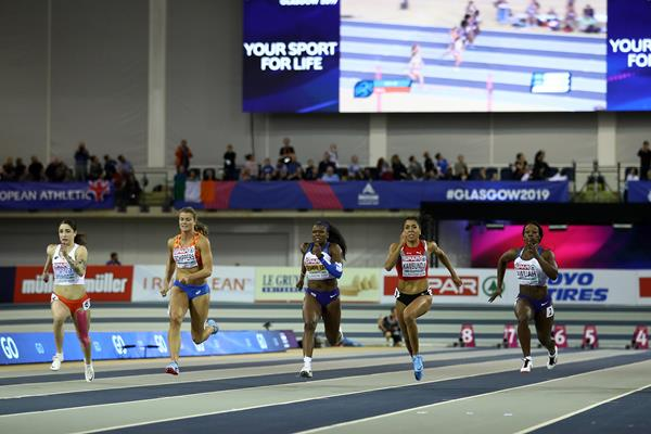 Women's 60m final at the European Indoor Championships (Getty Images)