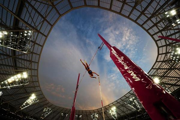 Sandi Morris in the pole vault at the IAAF World Championships London 2017 (Getty Images)