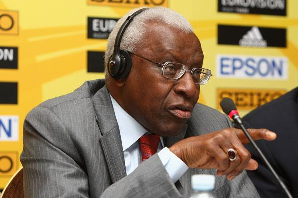 IAAF President Lamine Diack in Edinburgh (Getty Images)