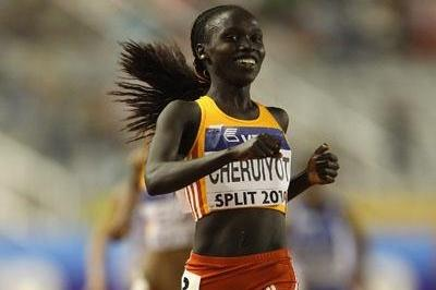 Vivian Cheruyiot of Kenya wins the 5000m in Split (Getty Images)
