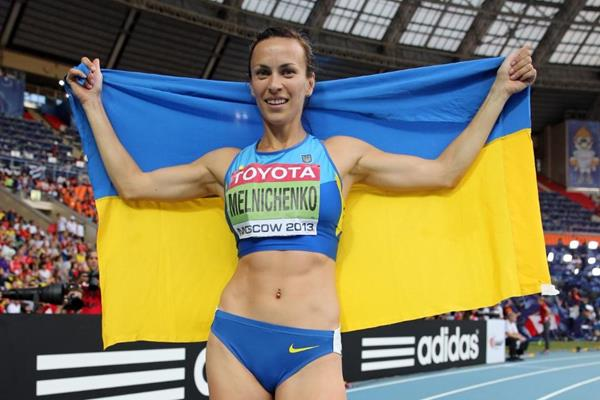Ganna Melinchenko in the womens Heptathlon at the IAAF World Athletics Championships Moscow 2013 (Getty Images)