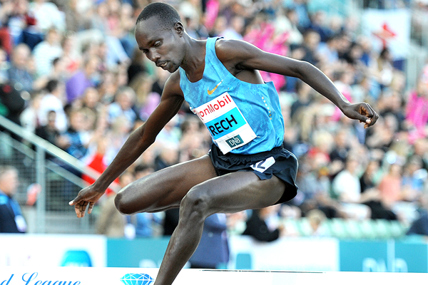 Steeplechase winner Jairus Birech at the IAAF Diamond League meeting in Oslo (Mark Shearman)