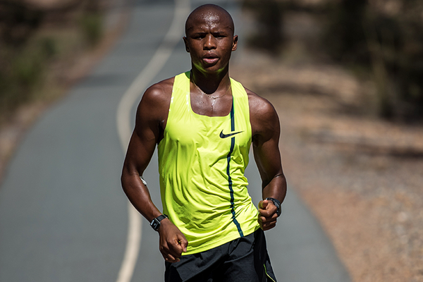 South African race walker Lebogang Shange (Ben Thorne)