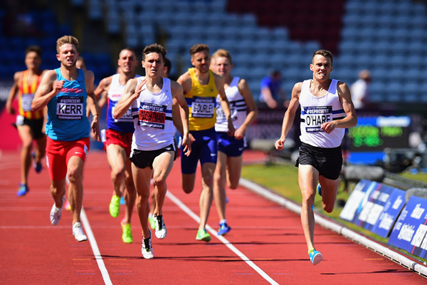 Chris O'Hare wins the 1500m at the British Championships (Getty Images)
