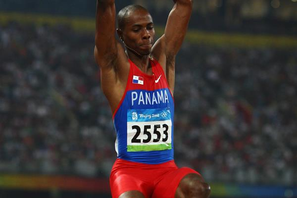 Irving Saladino, winner of the long jump at the 2008 Olympic Games in Beijing (Getty Images)