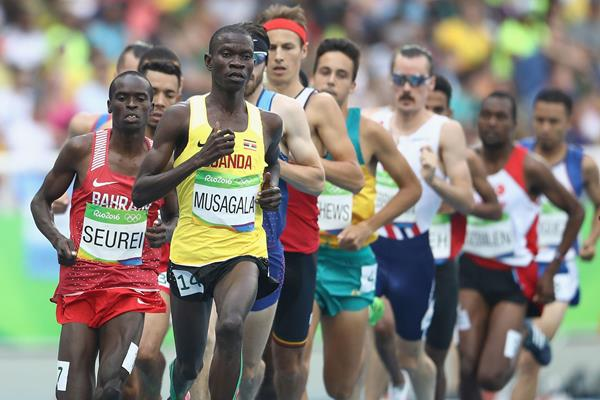 Ronald Musagala in the 1500m at the Rio 2016 Olympic Games (AFP / Getty Images)