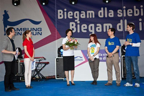 Ceremonies to start the Samsung Irena Run in Warsaw (Organisers)