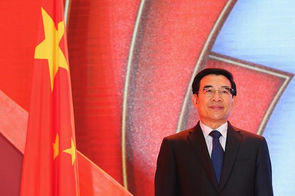 Mayor of Beijing Wang Anshun at the Opening Ceremony and Dinner for the 50th IAAF Congress at the Great Hall of the People in Beijing (Getty Images)