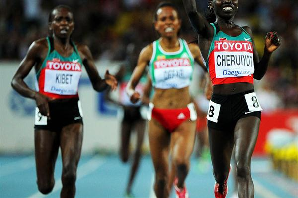Vivian Jepkemoi Cheruiyot of Kenya won the gold medal in the women's 5000 metres final (getty Images)