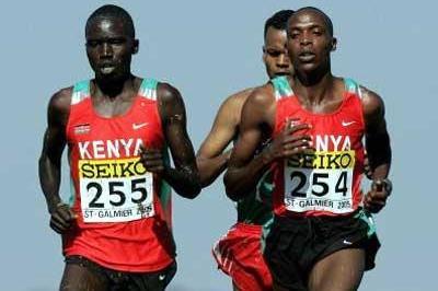 Bernard Kiprop Kipyego (255) and Augustine Choge (254) - Jnr race (Getty Images)