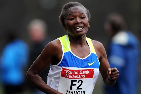 Pauline Wangui winning at The Hague (Jiro Mochizuki/Agence shot)