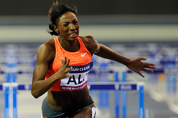 USA's Nia Ali in action in the 60m hurdles (AFP / Getty Images)