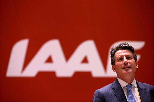 Sebastian Coe at the 50th IAAF Congress (Getty Images)