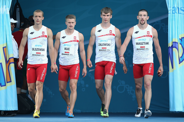 The Polish men's 4x100m team at the IAAF World Relays, Bahamas 2014 (Getty Images)