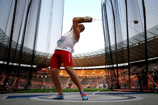 Hammer winner Wojciech Nowicki at the European Championships in Berlin (Getty Images)